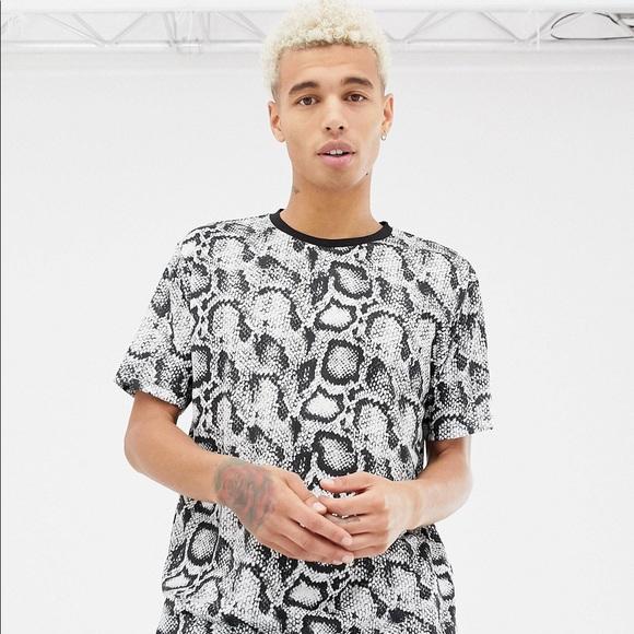 055d6436e ASOS Shirts | Snakeskin Tshirt Print Size S Men | Poshmark